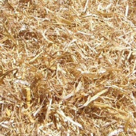 Chopped wheat straw
